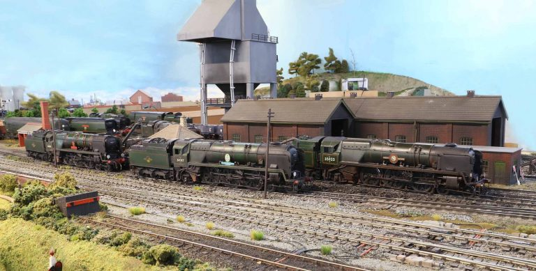 Rebuilt Bulleid Pacifics West Country 34001, Battle of Britain 34087 and Merchant Navy 35023